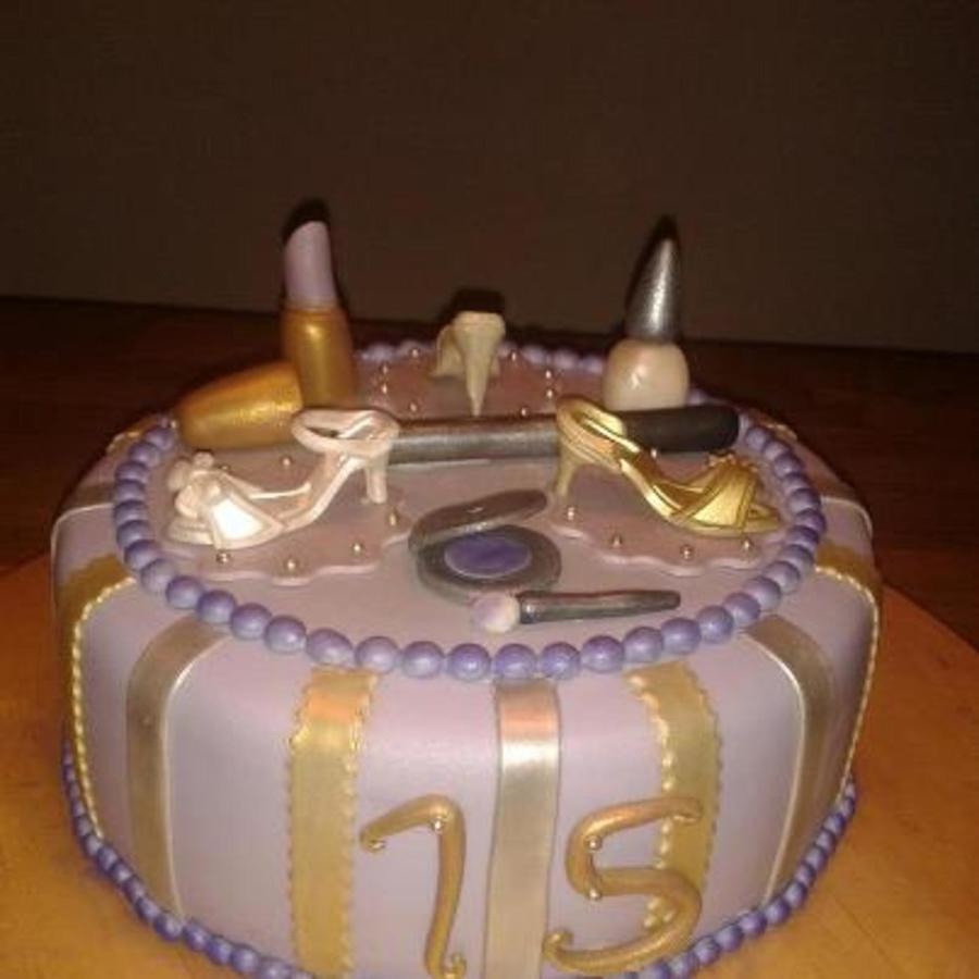 A Cake For A 15 Year Old Birthdaygirl Who Loves High Heels Make Up
