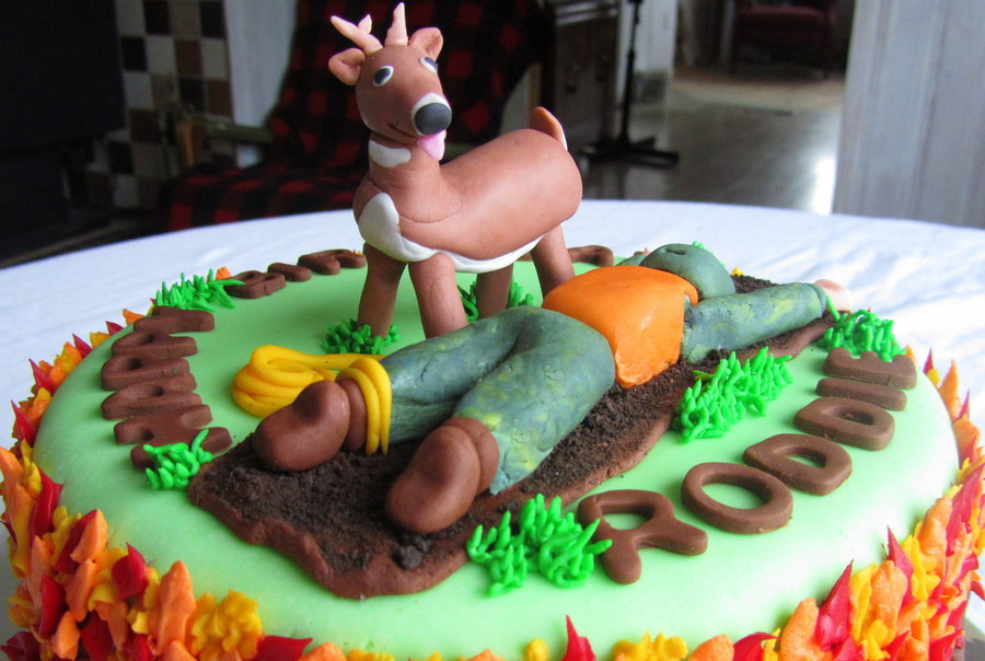 Tremendous Deer Hunting Birthday Cake Cakecentral Com Personalised Birthday Cards Veneteletsinfo