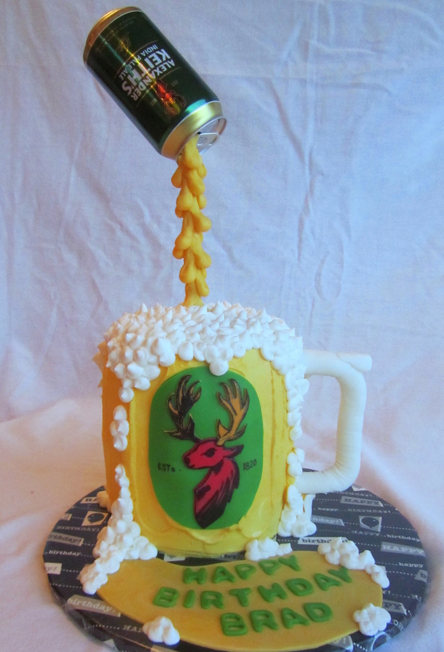 Pouring Beer Can Cake Keiths Cakecentral Com