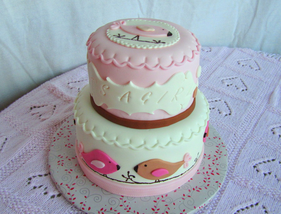Its A Gril Baby Shower Cake on Cake Central