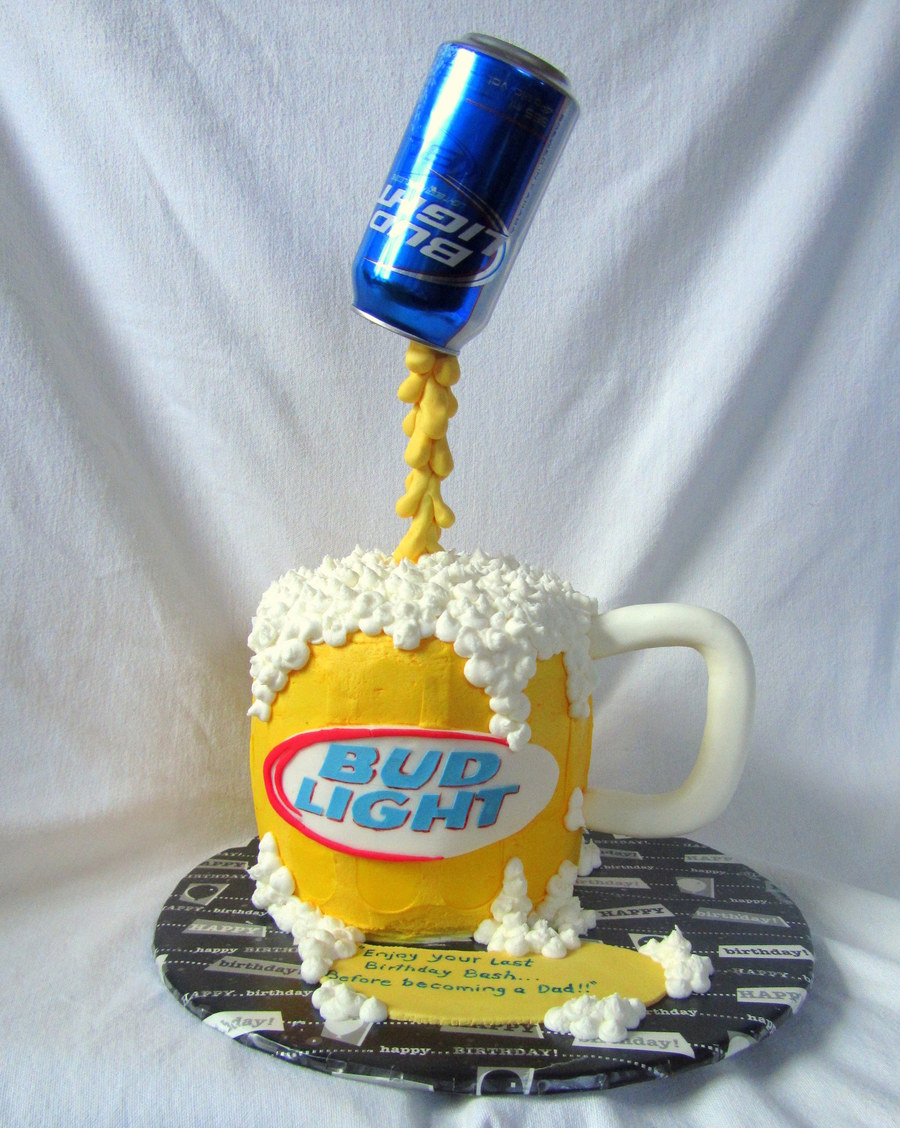 Pouring Beer Birthday Cake