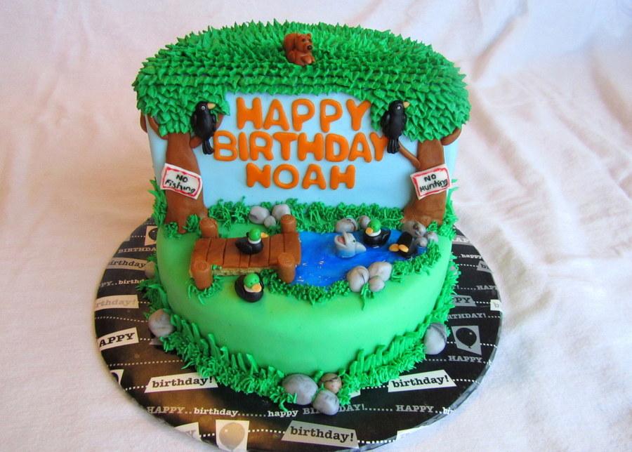 Remarkable No Hunting Birthday Cake A Joke For An Avid Hunterfisher Funny Birthday Cards Online Inifodamsfinfo