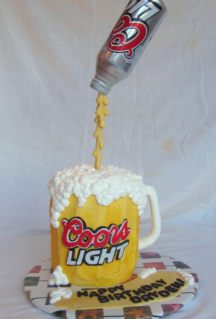 Beer Can Pouring Cake