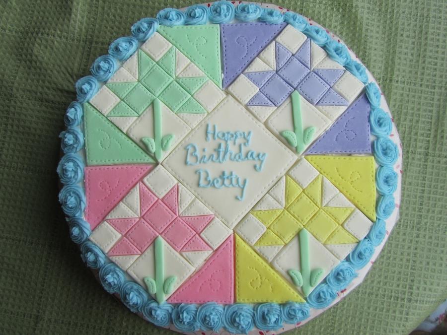 Cake Decorating Quilting Technique : Quilt Cake - CakeCentral.com