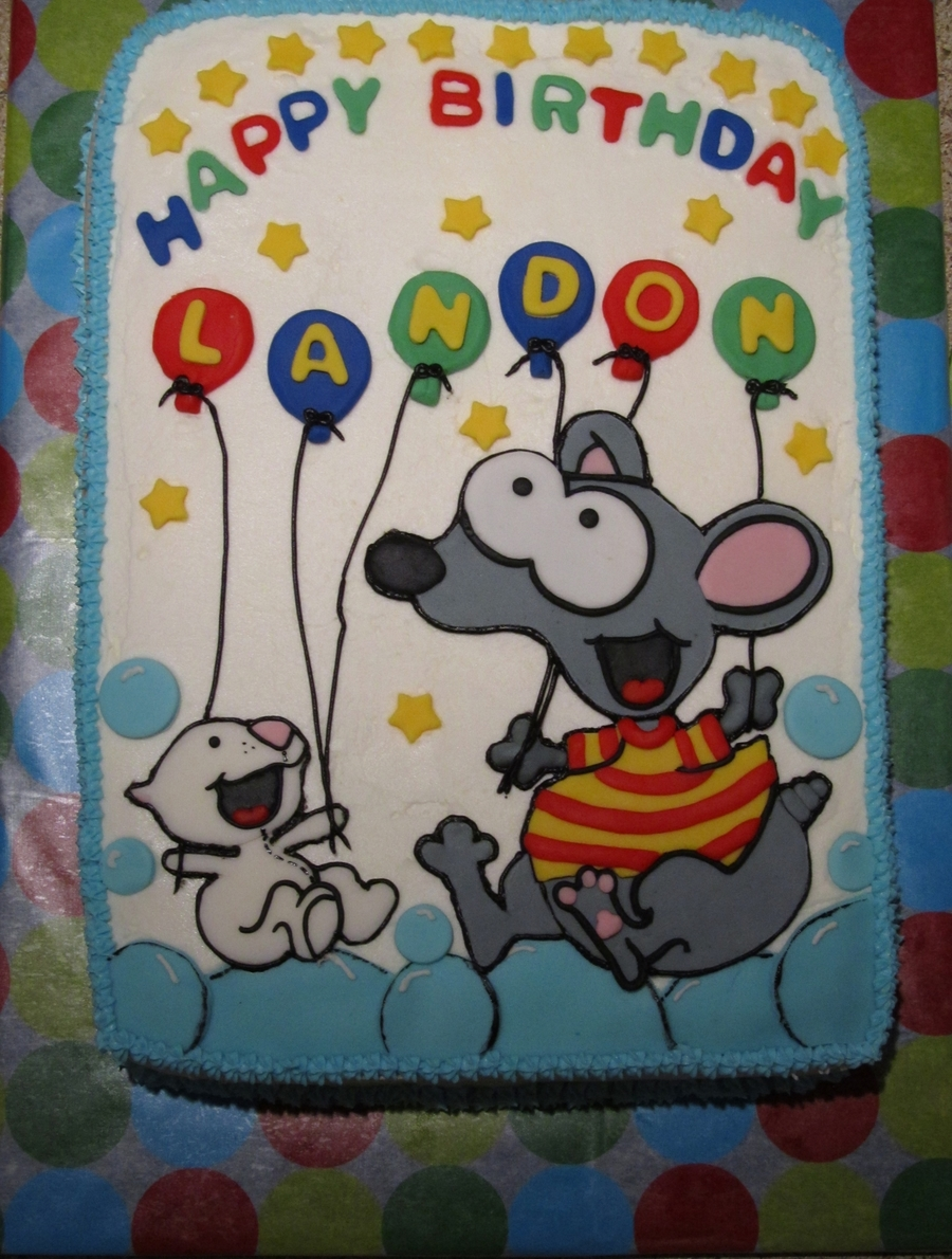 toopy u0026 binoo 1st birthday cakecentral com