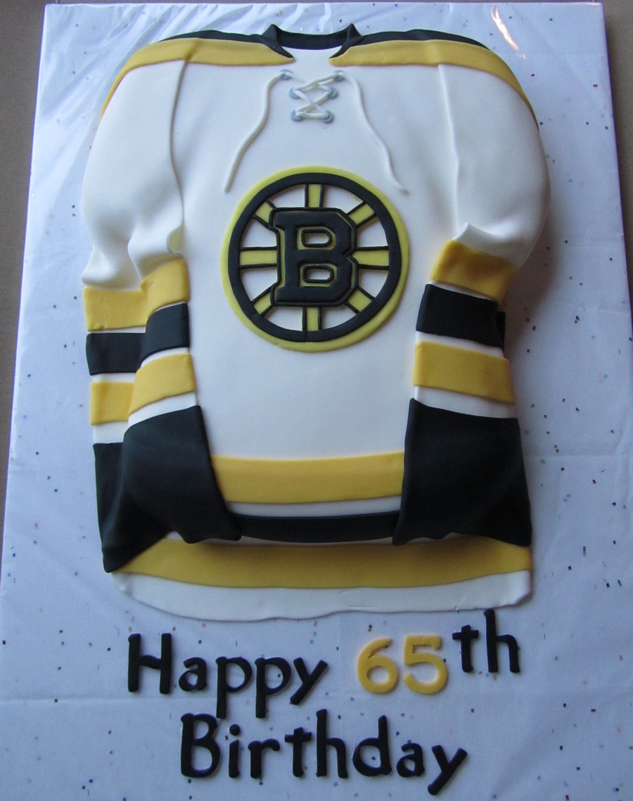 Boston Bruins Jersey Birthday Cake
