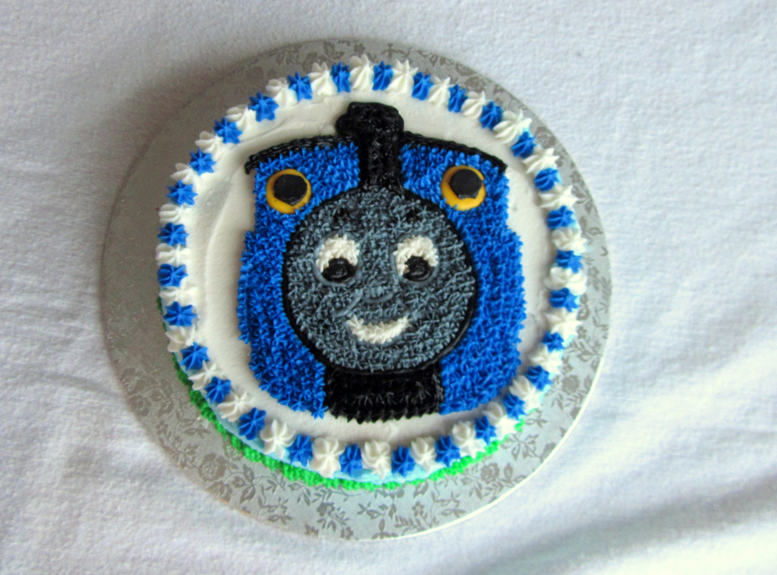 Babys First Birthday Thomas The Tank Engine Birthday Cake With