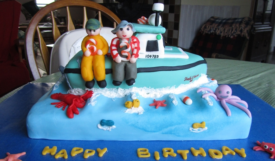 Fishing Boat Cake For Two Little Boys Cakecentral Com