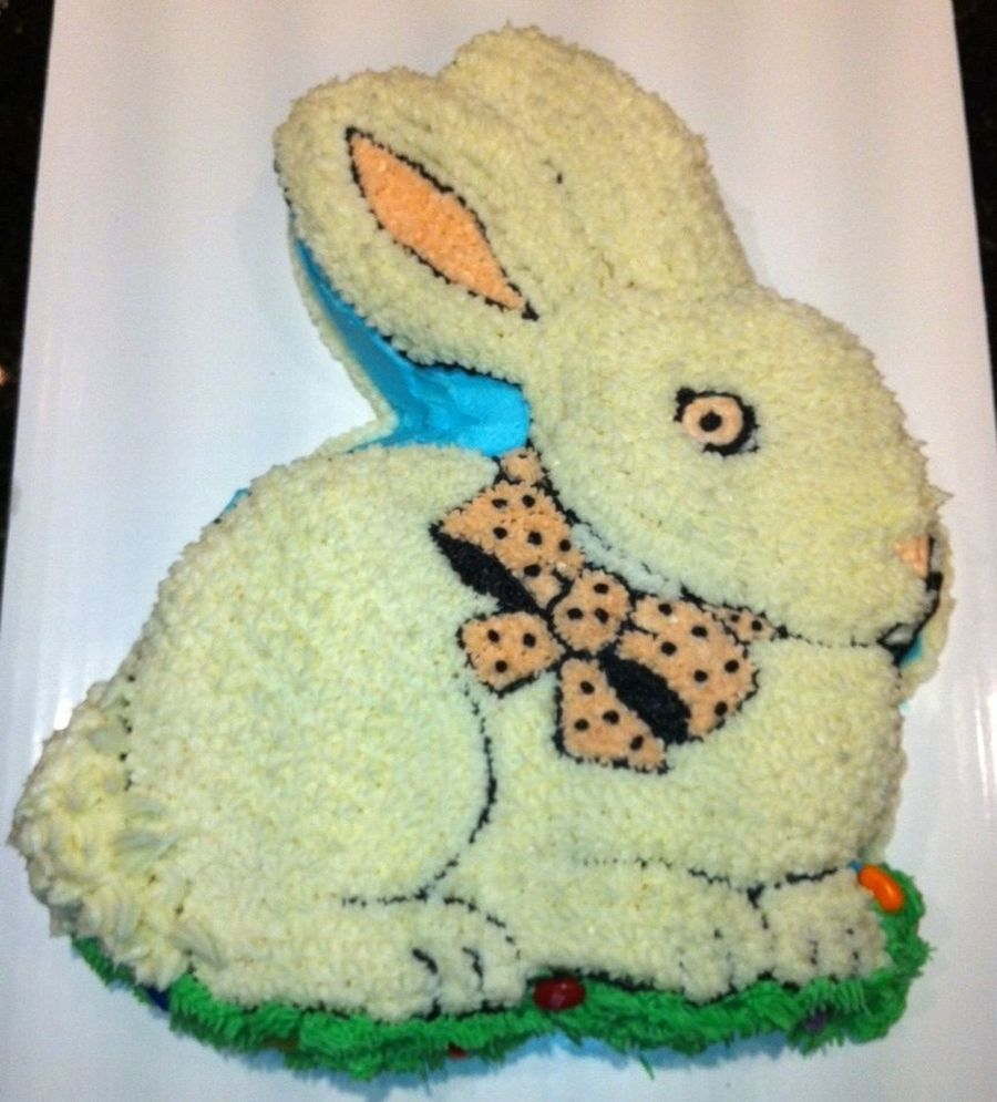 Bunny Made For A Pre Easter Brunch And Egg Hunt Yellow Cake With Buttercream on Cake Central