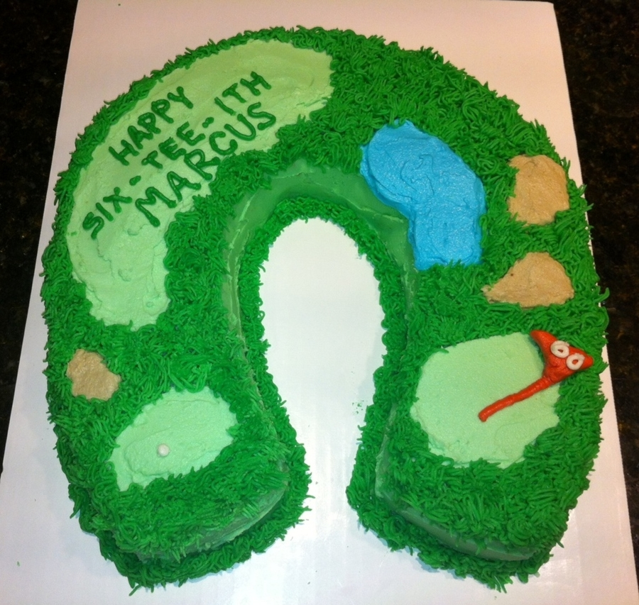 Golf Lovers 60Th Birthday on Cake Central