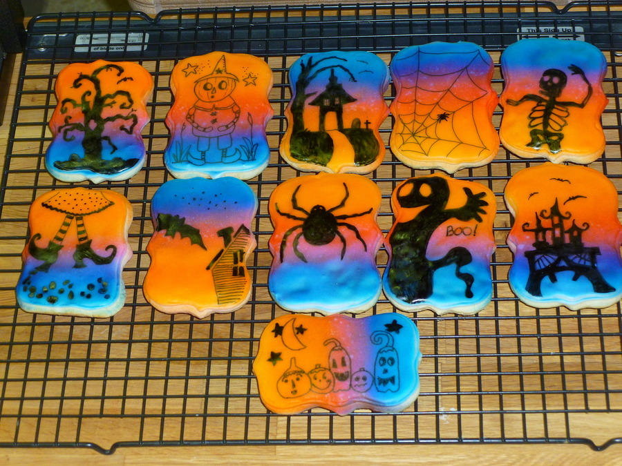 Opps Didnt Mean To Load This Under Birthday Cakes Oh Well These Are Sugar Cookies Air Brushed And Hand Painted With Edible Markers And on Cake Central