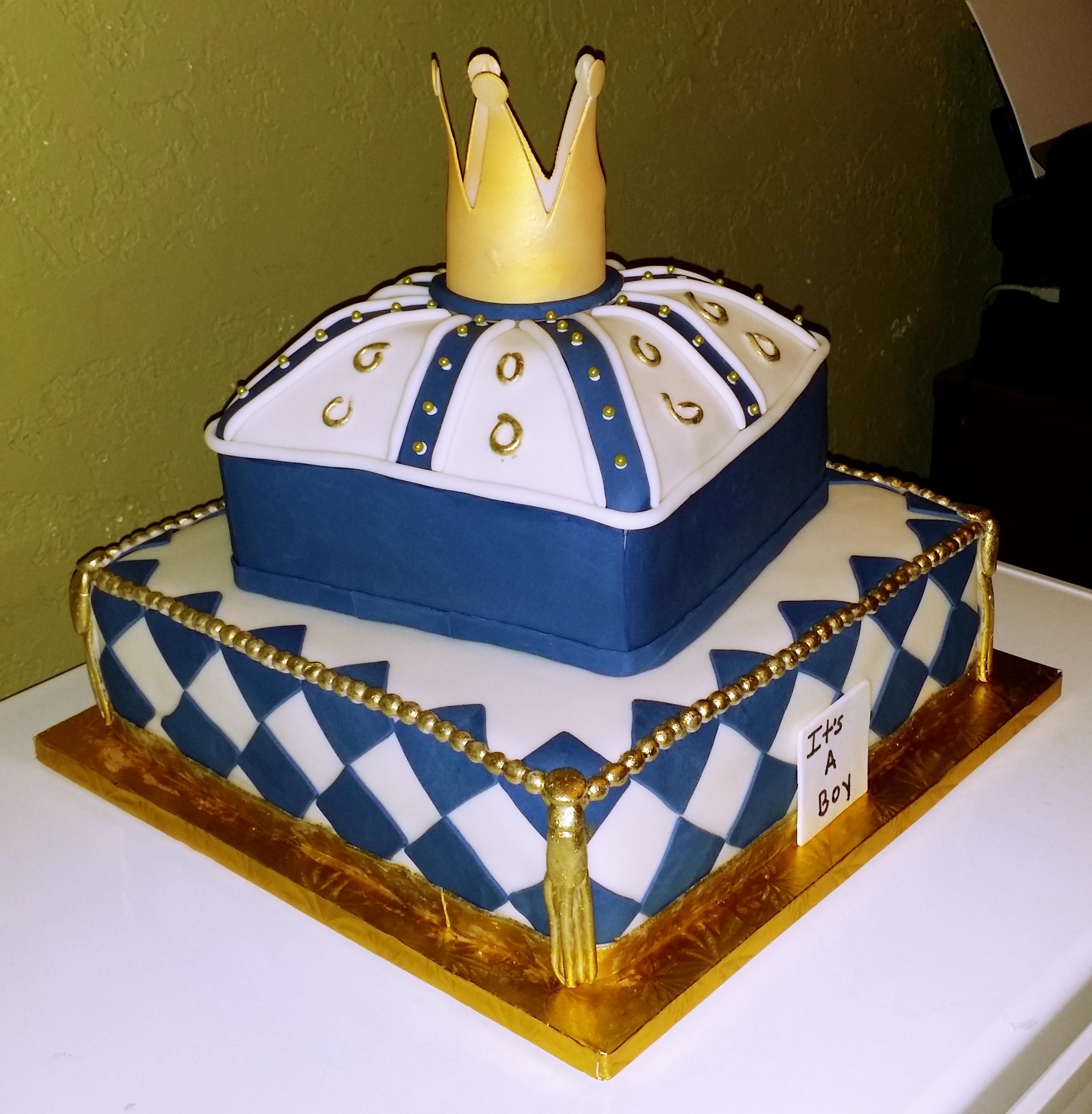 royalty baby shower cake