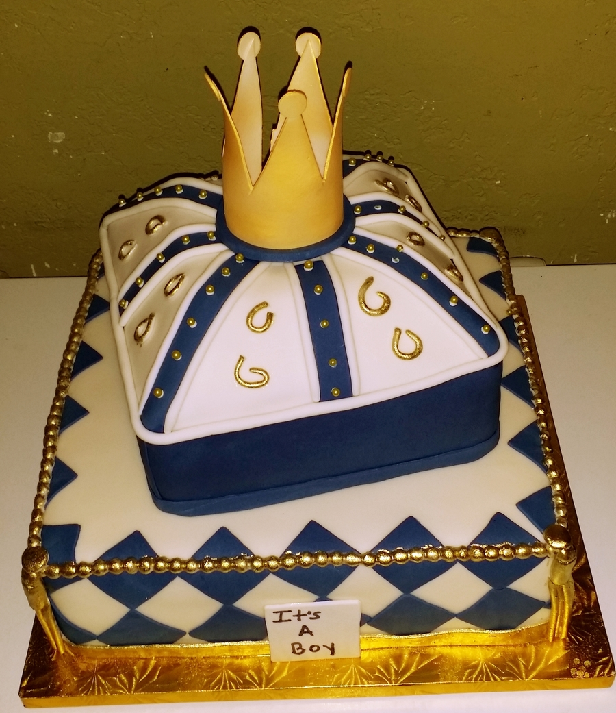 royalty baby shower cake
