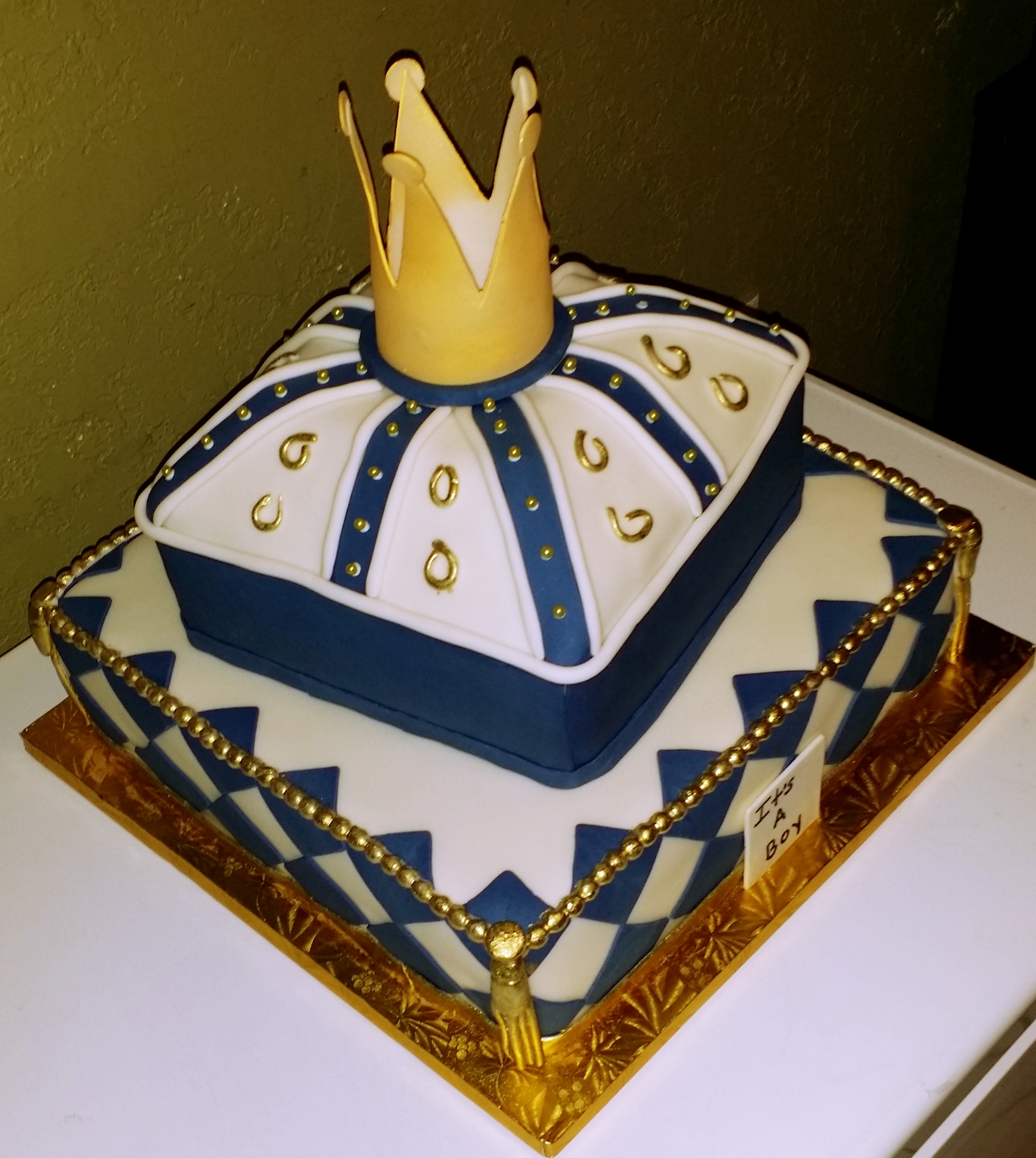Royalty Baby Shower Cake CakeCentral