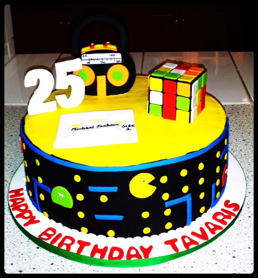 80 39 s theme cake for 80s cake decoration ideas
