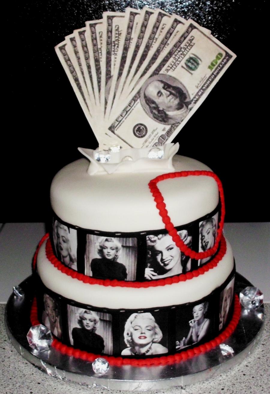 Marilyn Monroe Themed Birthday Cake