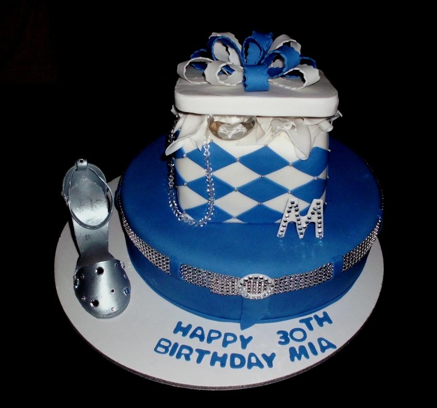 Denim Amp Diamonds Cake Wsilver Amp Bling Shoe