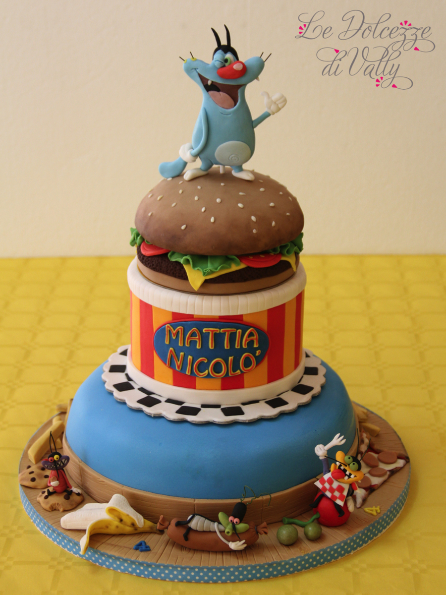 Oggy And The Cockroaches Cake CakeCentralcom