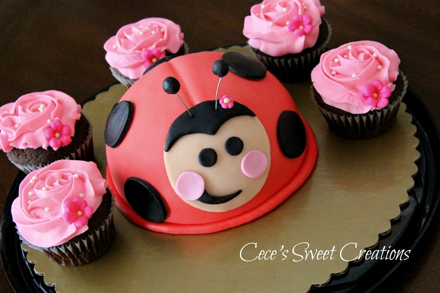Lady Bug Cake on Cake Central