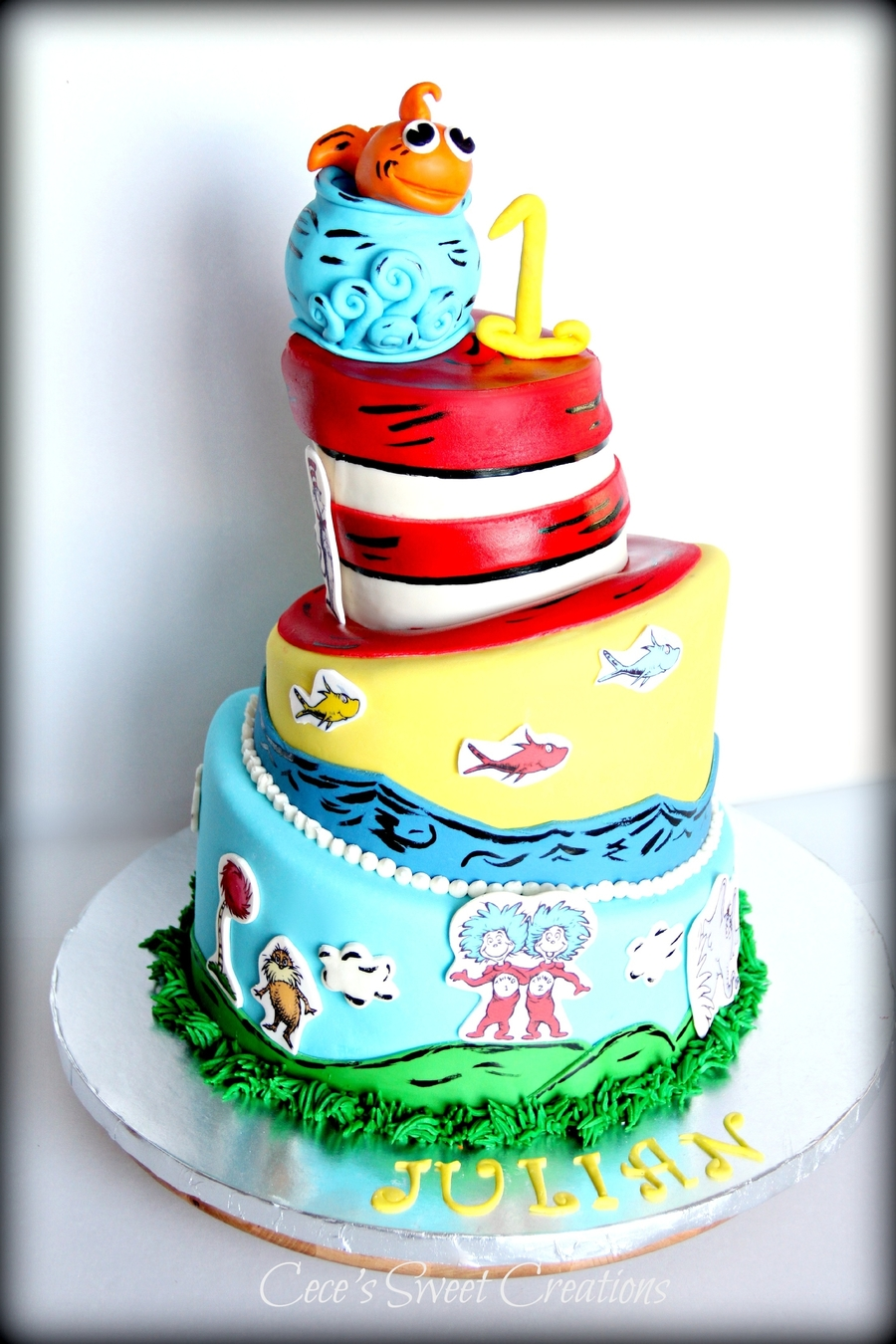 Dr.seuss Topsy Turvy Cake on Cake Central