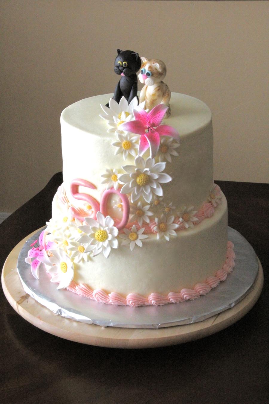 50Th Birthday Cake - CakeCentral.com