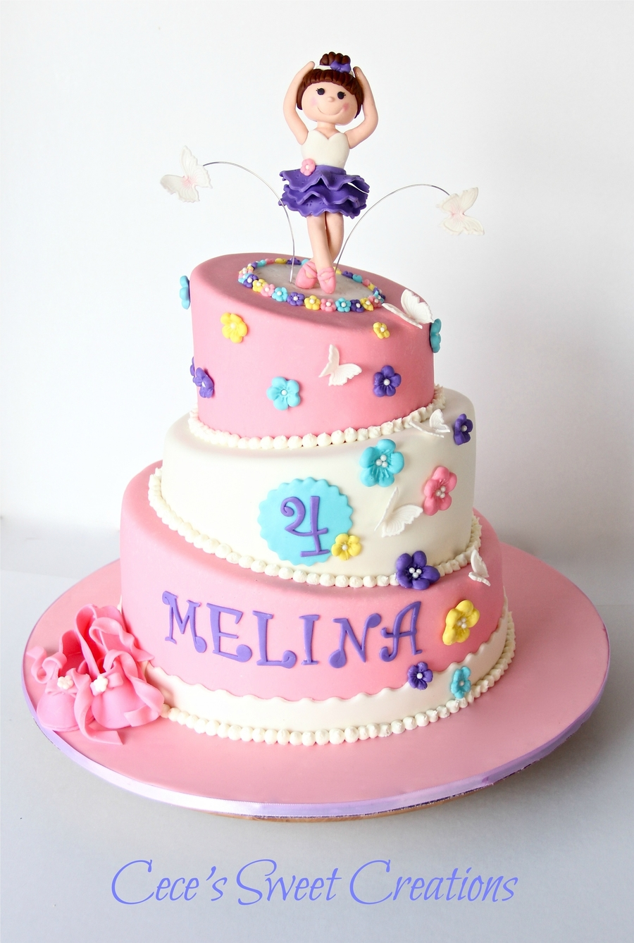 Pink Birthday Cakes For Girls
