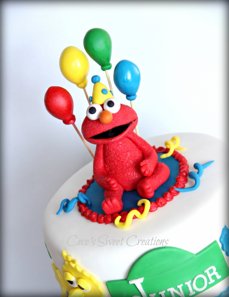 2 Tier Elmo Birthday Cake Is Made From MMF And Gumpaste Simple Cute