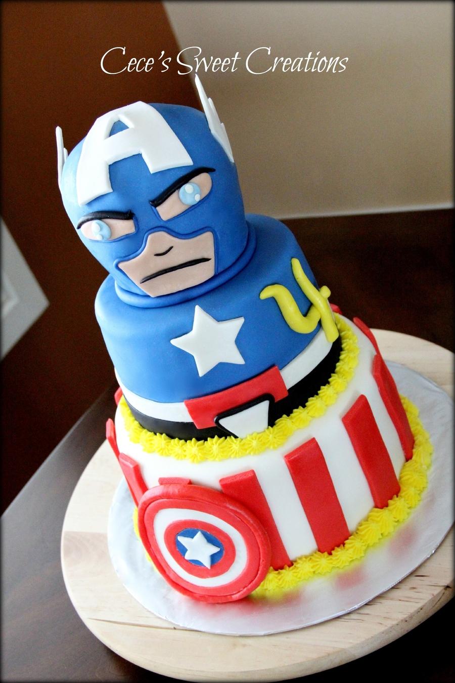 Captain America Cake Pics