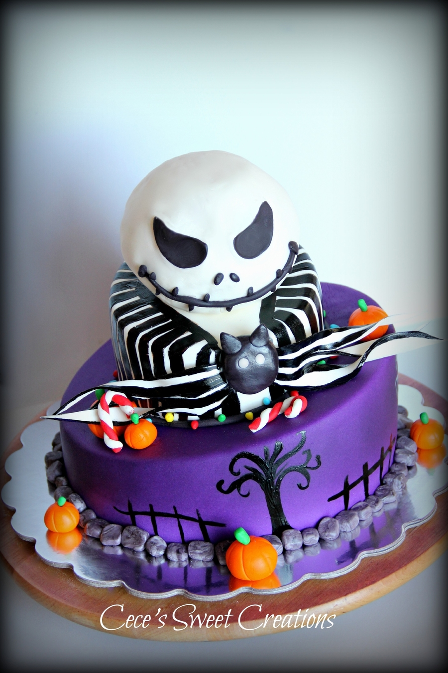 Jack From Nightmare Before Christmas Cake on Cake Central