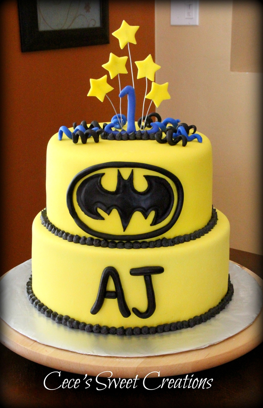 Batman Spiderman Birthday Cake