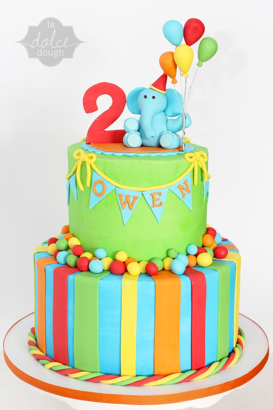 Bright Colored Baby Birthday Cakes