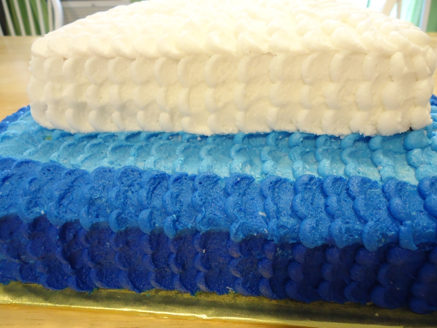 Ombre Square Petal Cake on Cake Central