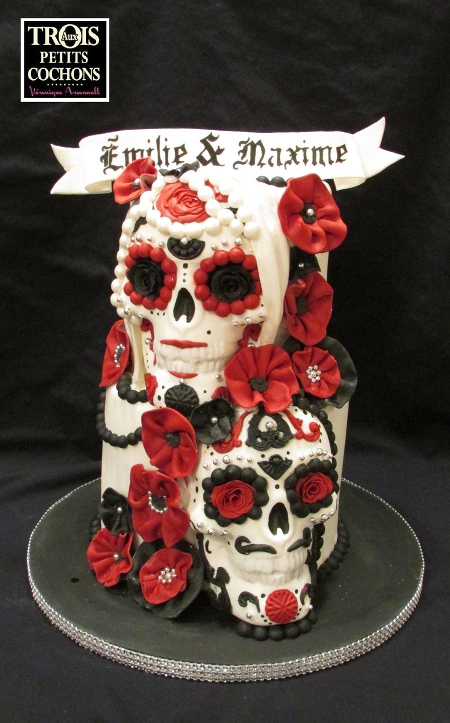 a skull wedding cake. Black Bedroom Furniture Sets. Home Design Ideas