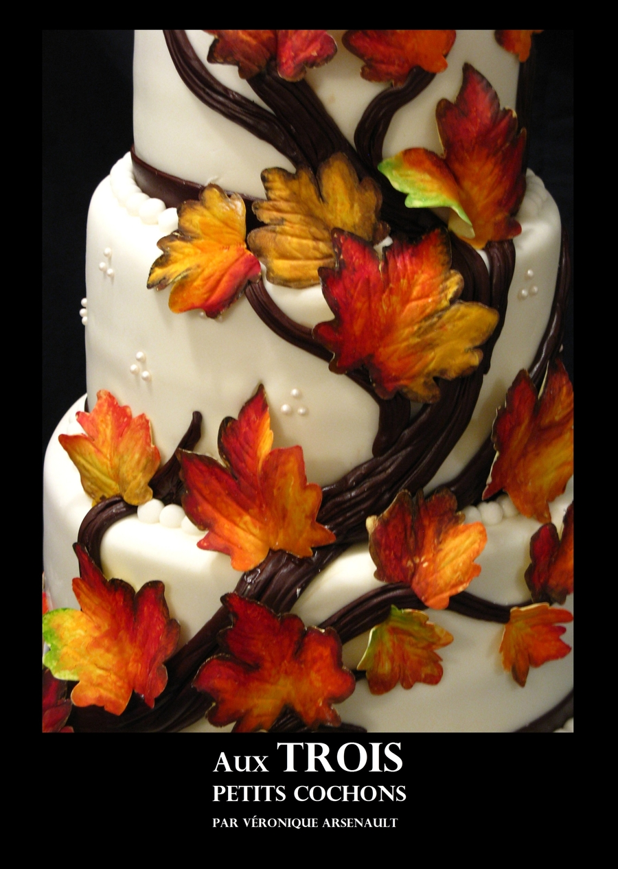 Wedding In Autumn  on Cake Central