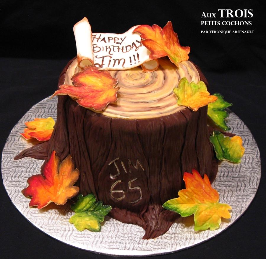 Happy Birthday Thanksgiving Cake