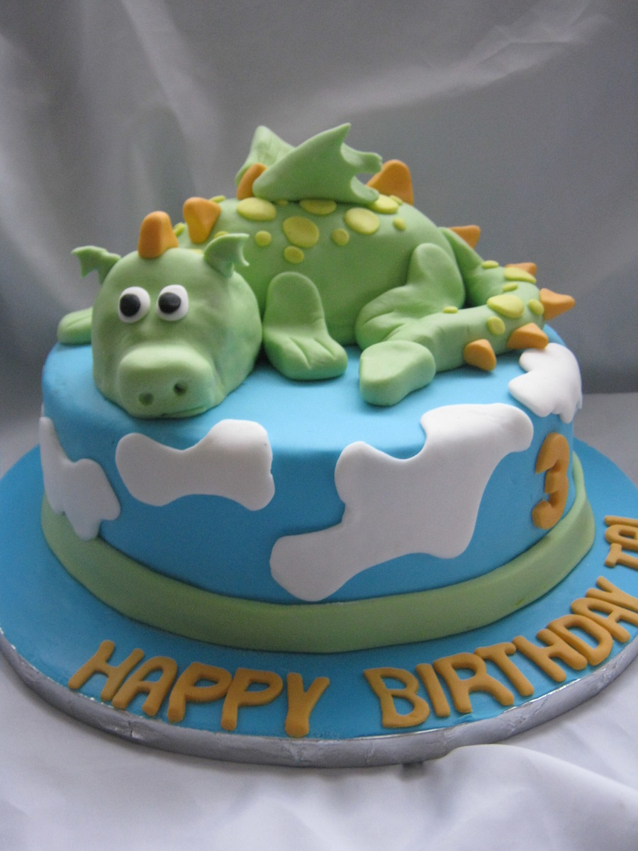 For A 3 Year Old Who Loves Dragons on Cake Central