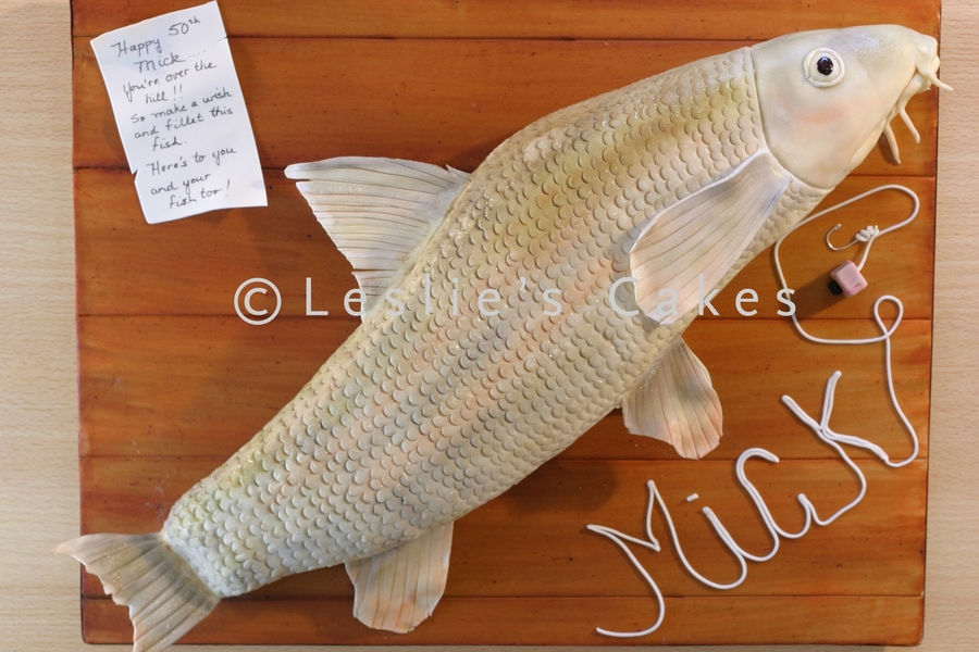 Sculpted Barbel Fish Cake on Cake Central