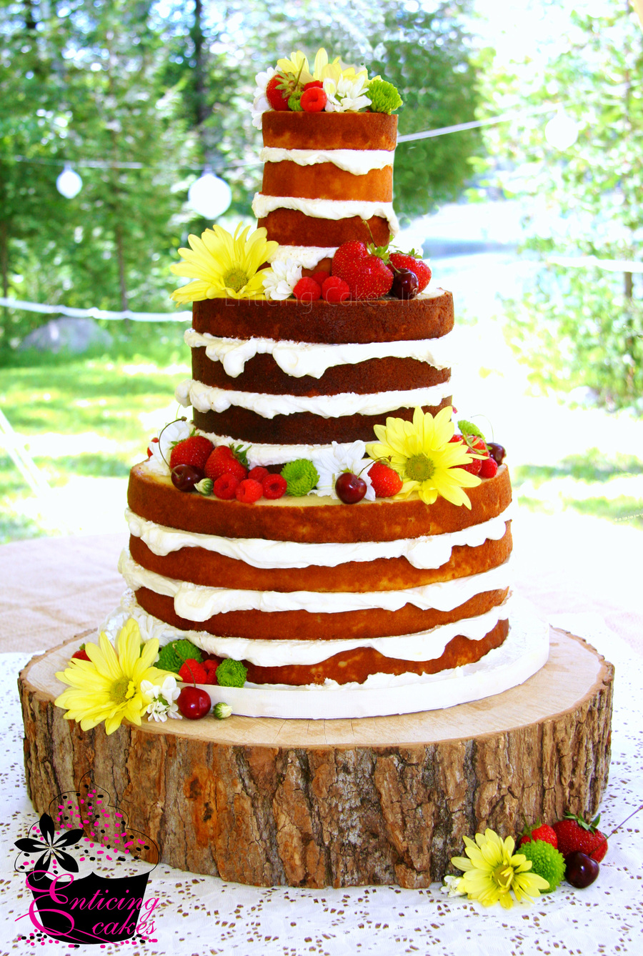 'bare' Wedding Cake on Cake Central