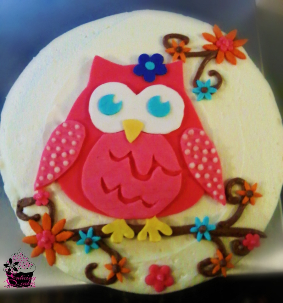 Retro Owl Birthday Cake on Cake Central