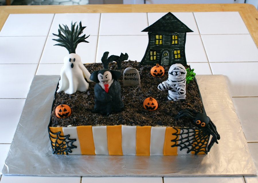 Halloween Birthday Cake on Cake Central