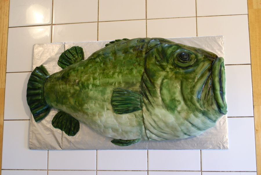 Bass Fish Cake on Cake Central