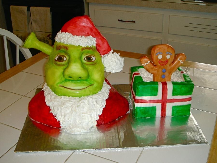 Shrek Christmas.Shrek Christmas Cake Cakecentral Com