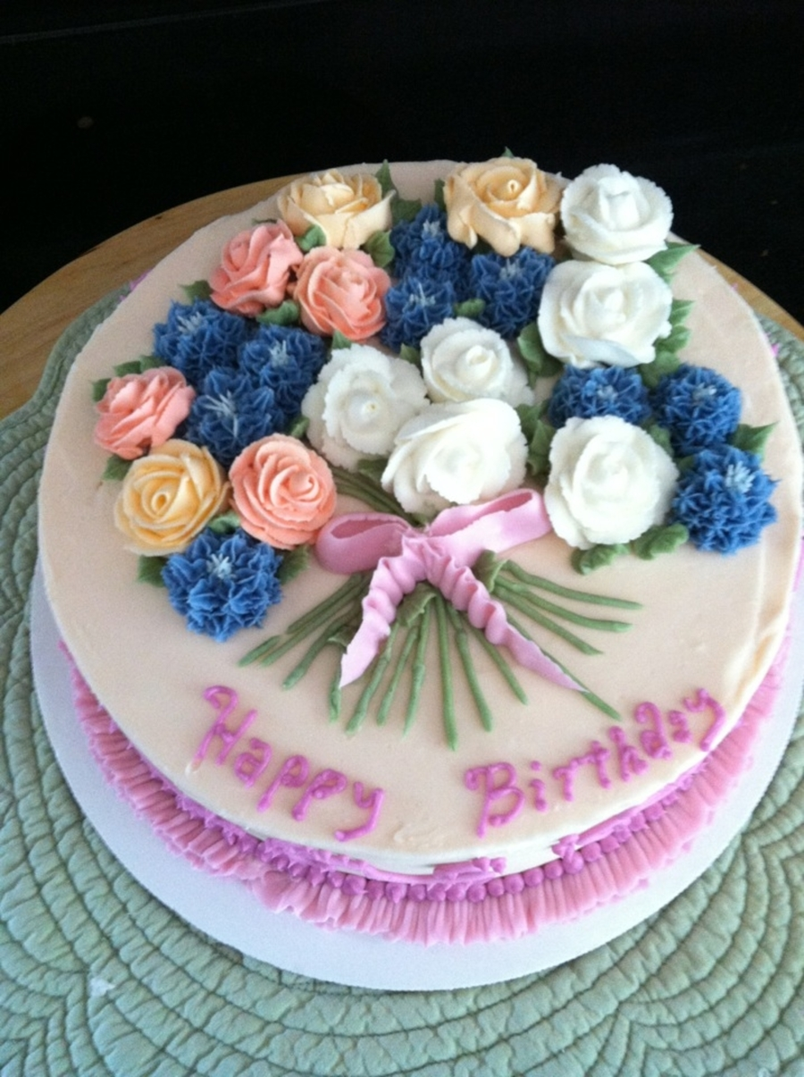 Flower Bouquet on Cake Central