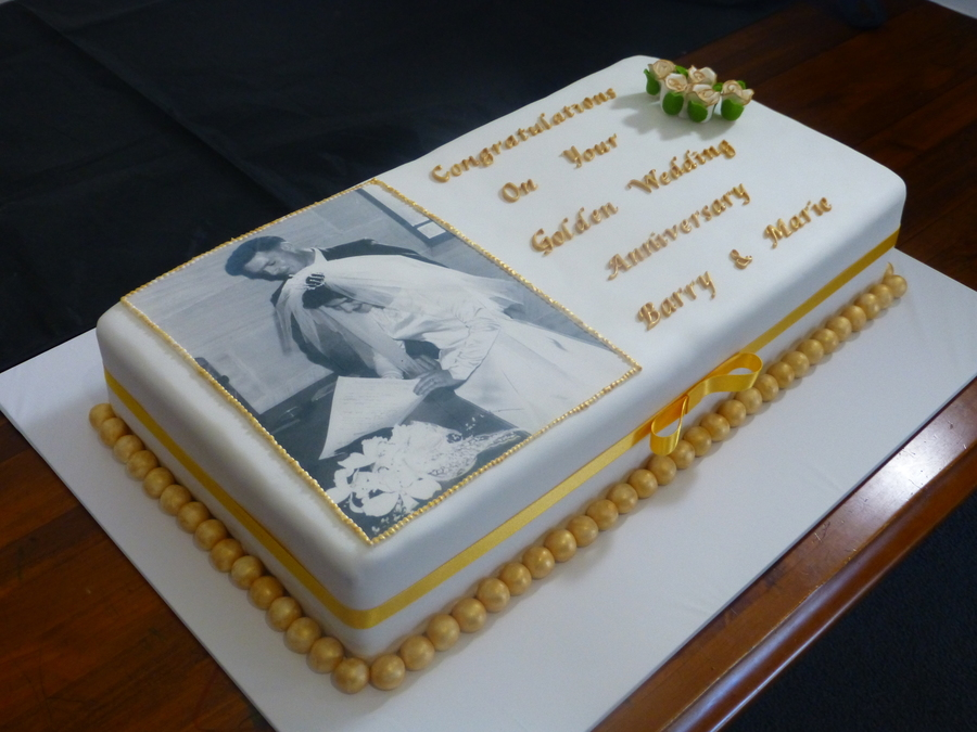 Cake Decorating Ideas For 50th Wedding Anniversary : 50Th Wedding Anniversary Cake - CakeCentral.com