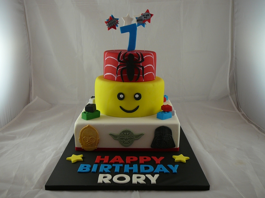 3 Tier Toy Themed Cake on Cake Central