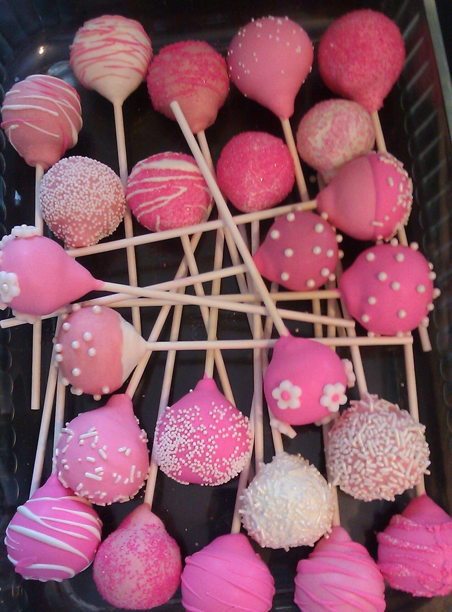 Think Pink Cake Pops on Cake Central