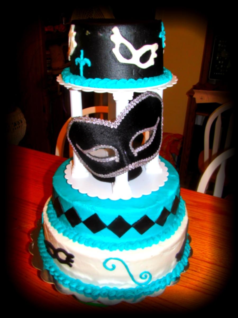 Sweet 16 Masquerade Cake Cakecentral Com