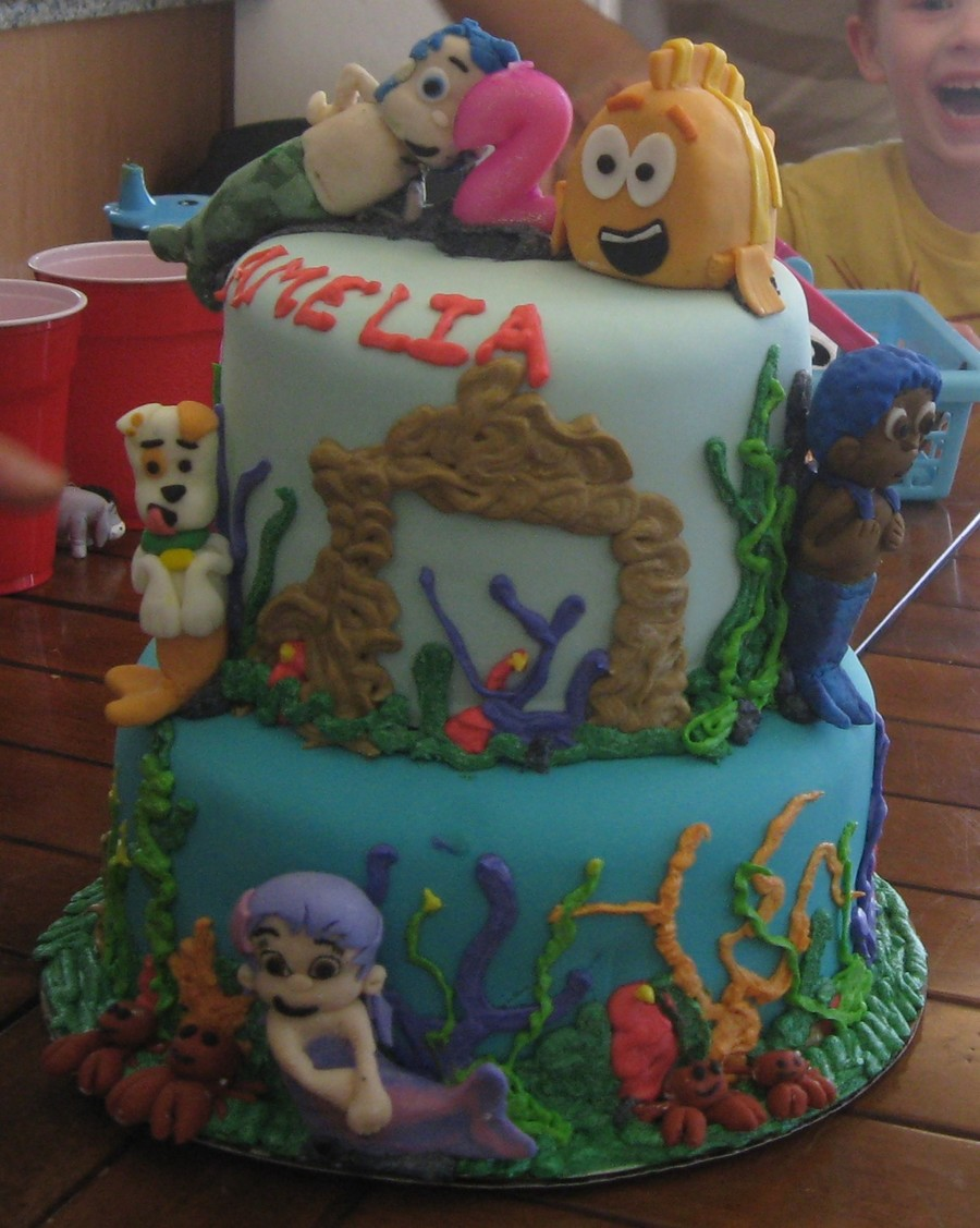 How To Make A Bubble Guppies Birthday Cake