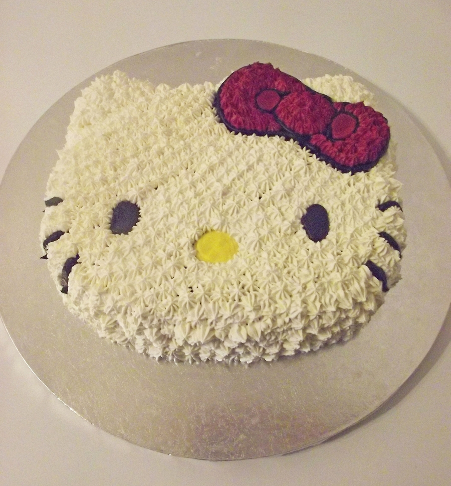 Hello Kitty Face Cake on Cake Central