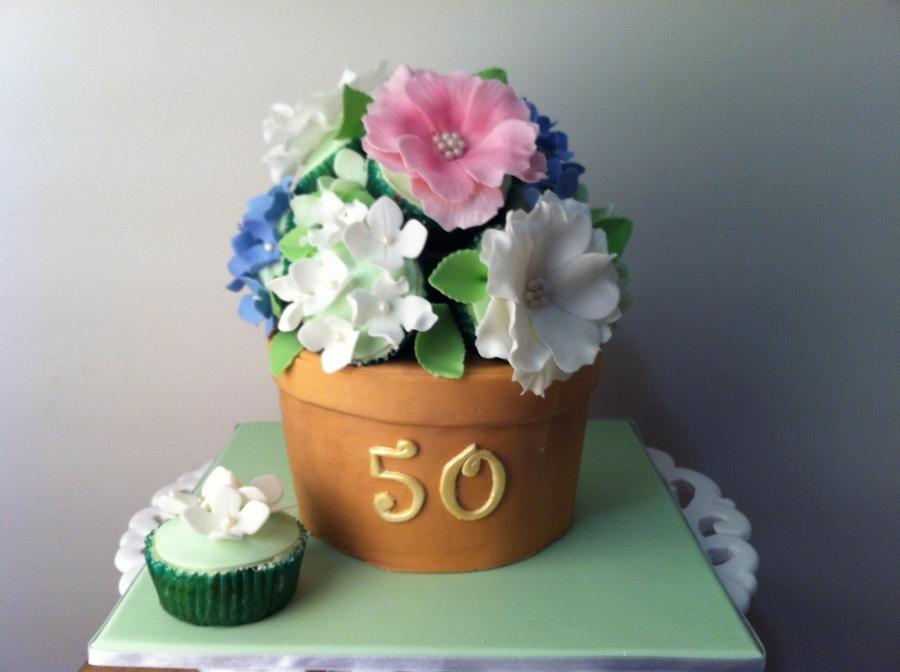 Flower Pot Cupcake Bouquet - CakeCentral.com